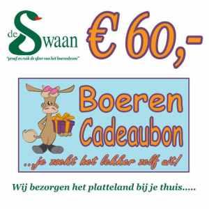 Boeren Cadeaubonnen 60 - Een Cadeaubon is het ideale kerstpakket voor elke medewerker - Bestel bij BoerenCadeaubon- www.Krstpkkt.nl