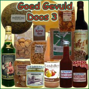 Kerstpakket Goed Gevuld 3 - Streekpakket goed gevuld is samengesteld met eerlijke lokale streekproducten - Streekproducten Specialist - www.kerstpakkettencadeaubon.nl