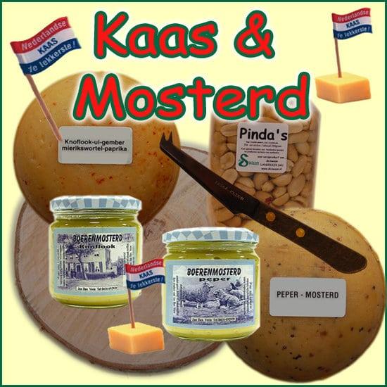 Kaas en Mosterd kerstpakket - Streekpakket gevuld met lokale streekproducten - Kerstpakket Specialist - www.kerstpakkettencadeaubon.nl
