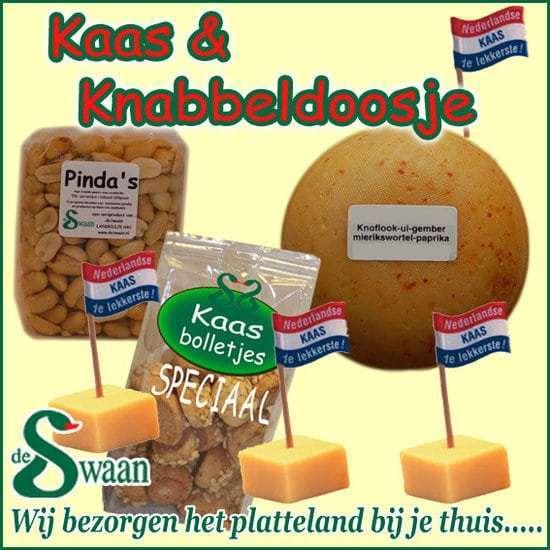 Kaas en knabbel kerstpakket - Kerstpakket gevuld met lokale streekproducten - Kerstpakket Specialist - www.krstpkkt.nl