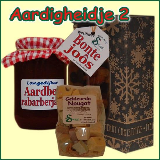 Kerstpakket Aardigheidje 2 - Streekpakket gevuld met lokale streekproducten - Relatiegeschenk Specialist - www.kerstpakkettencadeaubon.nl