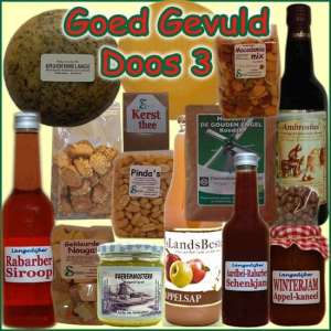 Kerstpakket Goed Gevuld 3 - Streekpakket goed gevuld is samengesteld met eerlijke lokale streekproducten - Kerstpakketten Specialist - www.krstpkkt.nl