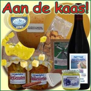 Kerstpakket Kaas - Kerstpakket gevuld met lokale boerenkaas en diverse streekproducten - Kerstpakket borrelen - www.krstpkkt.nl