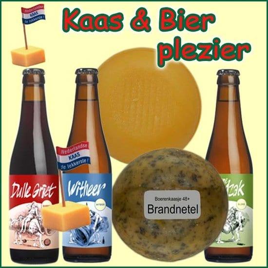 Kerstpakket Kaas en bier - Kerstpakket gevuld met lokaal bier en kaas streekproducten - Kerstpakket borreltijd - www.krstpkkt.nl