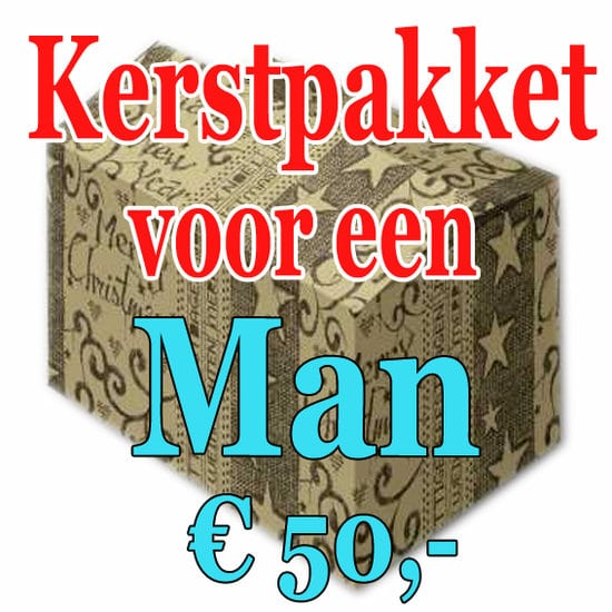 Kerstpakket Man Verrassing 50 - Verrassingspakket voor de Man - Kerstpakket verrassing Man - www.kerstpakkettencadeaubon.nl
