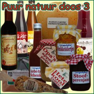 Kerstpakket Puur Natuur 3 - Streek Cadeaupakket gevuld met originele StreekSpecialiteiten - Cadeaupakket met StreekSpecialiteiten - www.kerstpakkettencadeaubon.nl