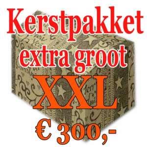 Kerstpakket Verrassing extra groot - 300 - Kerstpakket XXL is een zeer royaal Kerstpakket extra groot - www.kerstpakkettencadeaubon.nl