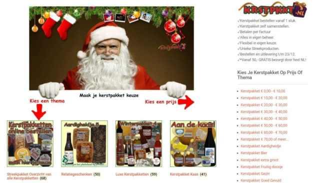 Kerstpakketten kiezen - Kies voor een bepaalde prijs of kerstpakket thema - www.krstppkt.nl