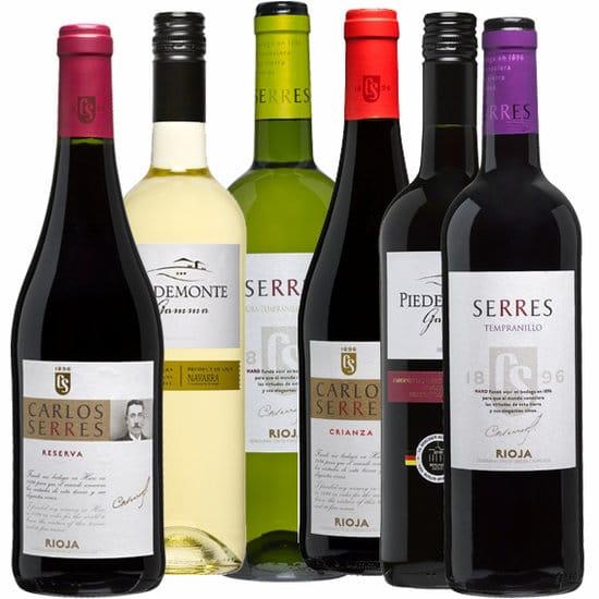Wijnpakket Spanje 6 - Wijngeschenk gevuld met luxe wijnen uit spanje - Kerstpakket wijn - www.krstpkkt.nl