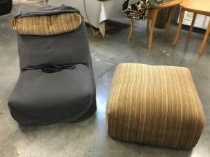 B&B Italia Le Bombole chair & footstool - before