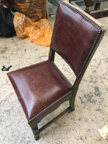 Leather dining chair - after