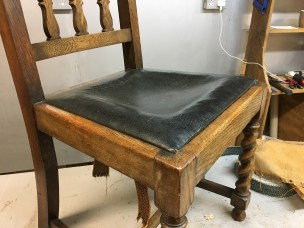 Barley-twisted chair - before