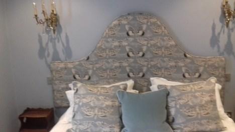Moth design headboard & cushions
