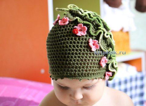 Ажурная шапочка для девочки мастер - класс!