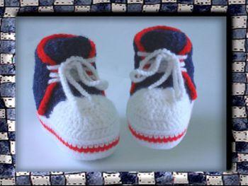 Örme Patik - Tığ işi spor ayakkabı, yeni başlayanlar için ana sınıf
