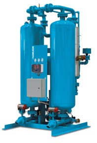 Heated Purge desiccant air compressor