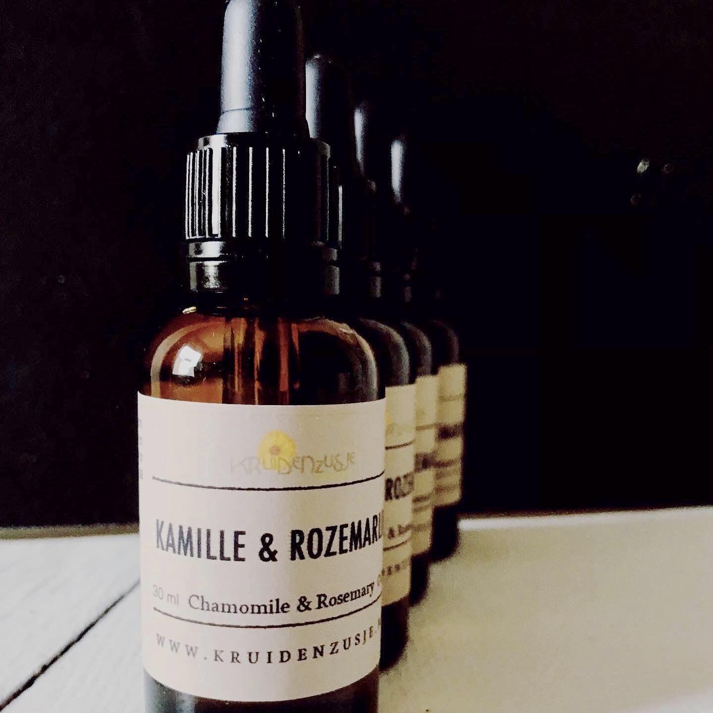Kamille en Rozemarijn olie