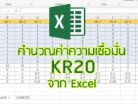 KR-20 ค่าความเชื่อมั่นที่หาได้จาก excel