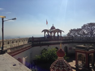 View of temple from terrace.