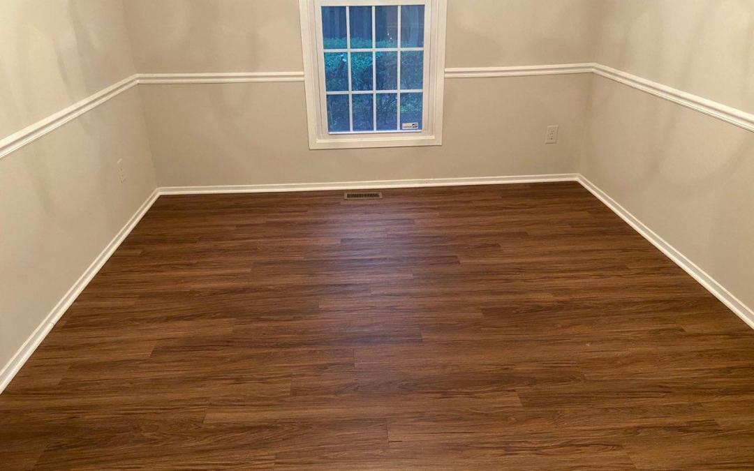 New flooring: Hardwood and Carpet
