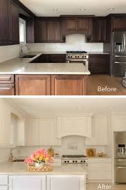 beforeafter - Painted Kitchen Cabinets