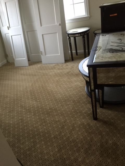 Elegant new carpet in Kensington