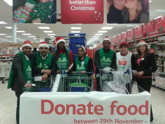 Volunteering collecting for Brent Food Bank