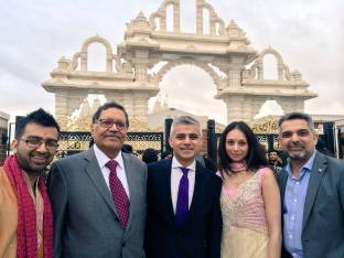 With Mo, Krupa, Sadiq and Navin at Neasden Temple