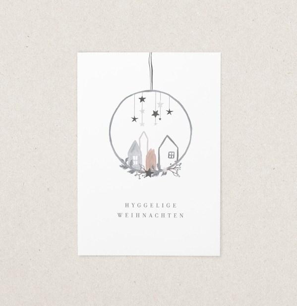 Postkarte Hygge Weihnachten