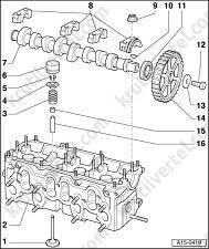 Снятие и установка головки блока цилиндров Audi A6
