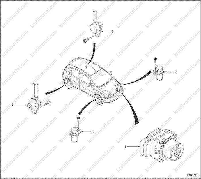 Chevrolet Aveo с 2005 года, ремонт системы ABC инструкция