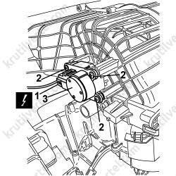 Fiat Linea с 2007, снятие мотора привода заслонки