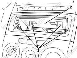 Fiat Linea с 2007, снятие и установка аудиопроигрывателя
