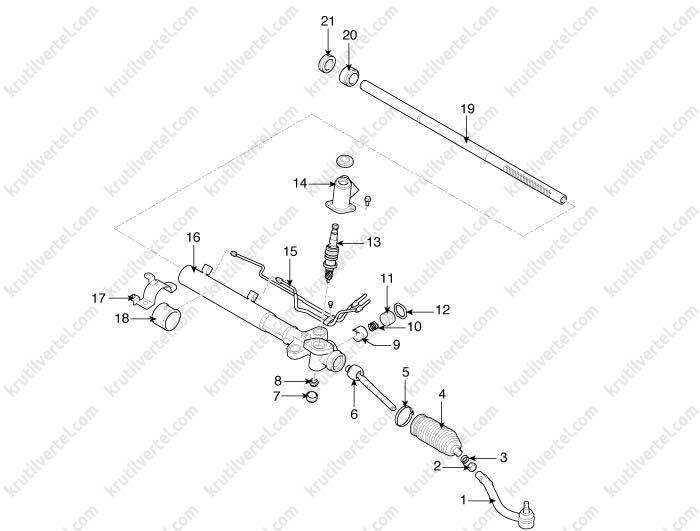 Снятие и установка руля Hyundai ix55 с 2007, инструкция онлайн