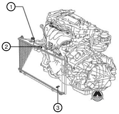 Lexus RX 270 с 2010 года, ремонт системы охлаждения
