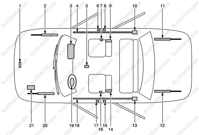 Opel Astra J с 2009, ремонт системы безопасности