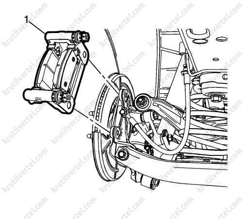 Opel Insignia с 2008, замена тормозных колодок инструкция