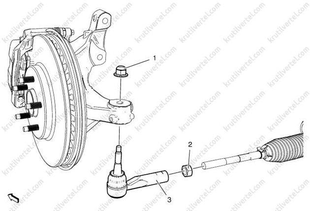 Opel Zafira Tourer с 2012, снятие рулевых тяг инструкция