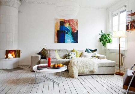 Цвет пола в маленькой квартире. Серые стены в интерьере