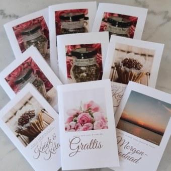Presentkort med kryddor och te