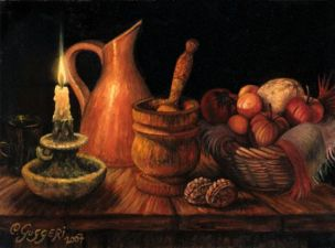 CANDLELIGHT, oil on canvas