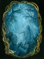 L'incantesimo della principessa sul Re, olio su foglio_2007
