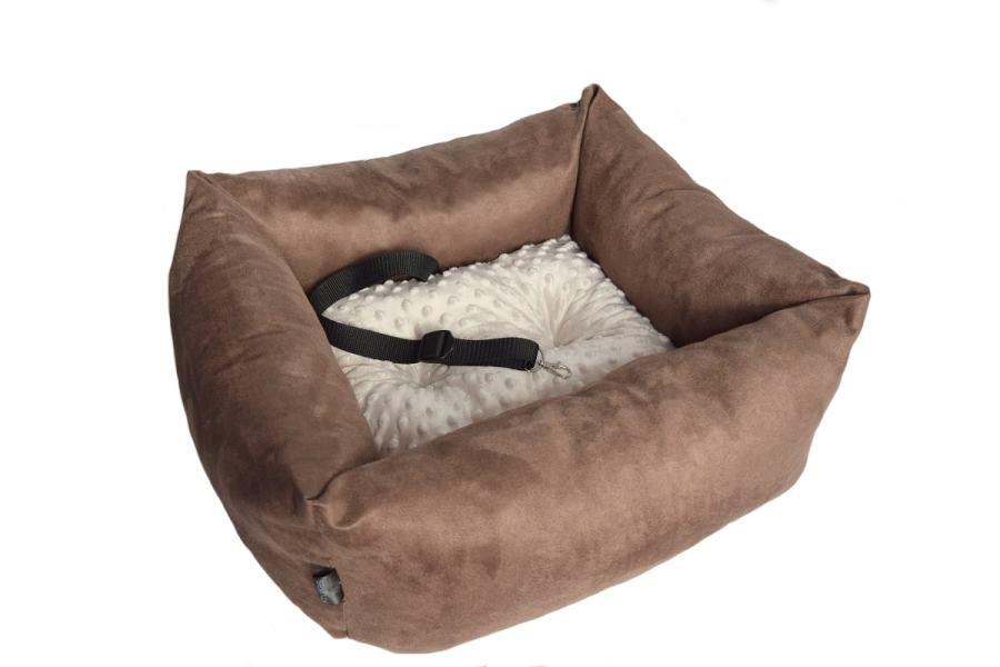 Fotelik samochodowy PREMIUM dla psa / kota z minky