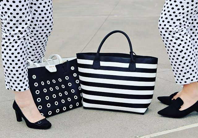 soon on my blog new post polkadots pants bag blackandwhitehellip