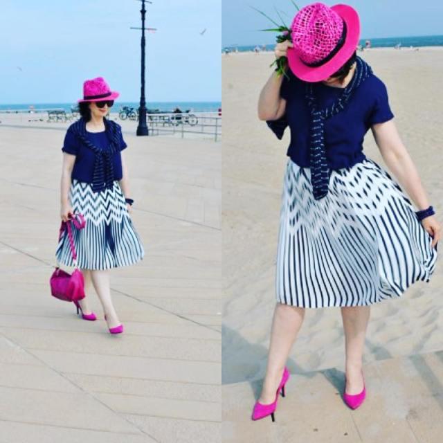mystyle lookoftheday instacool chic outfit ootd pinkhat skirt modnapolkapl stylovepolkihellip