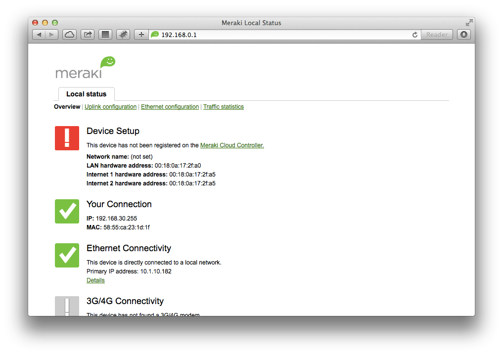 Configure Static Addresses On A Meraki - krypted