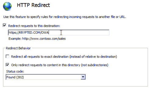 redirect default web site from insecure to secure traffic