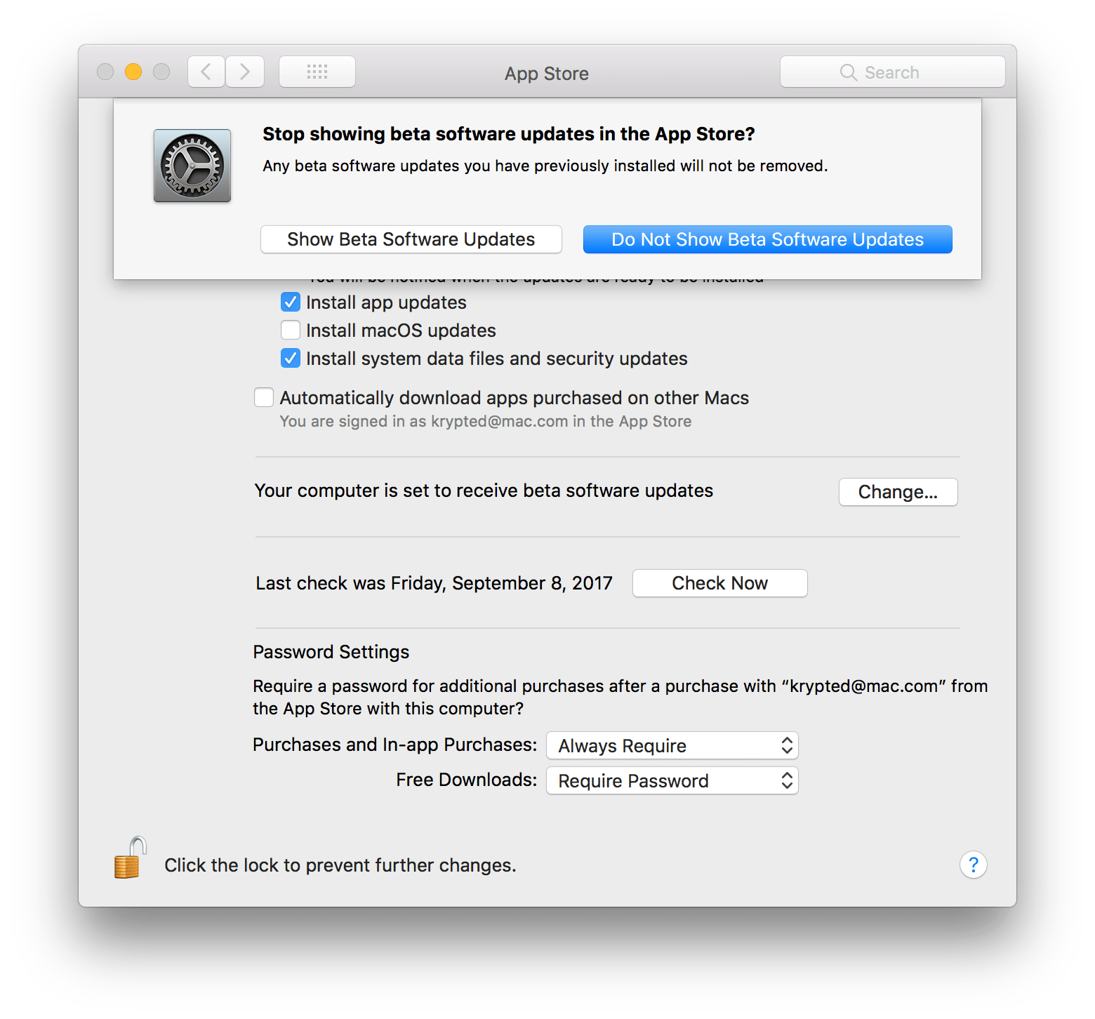disable software update mac command line