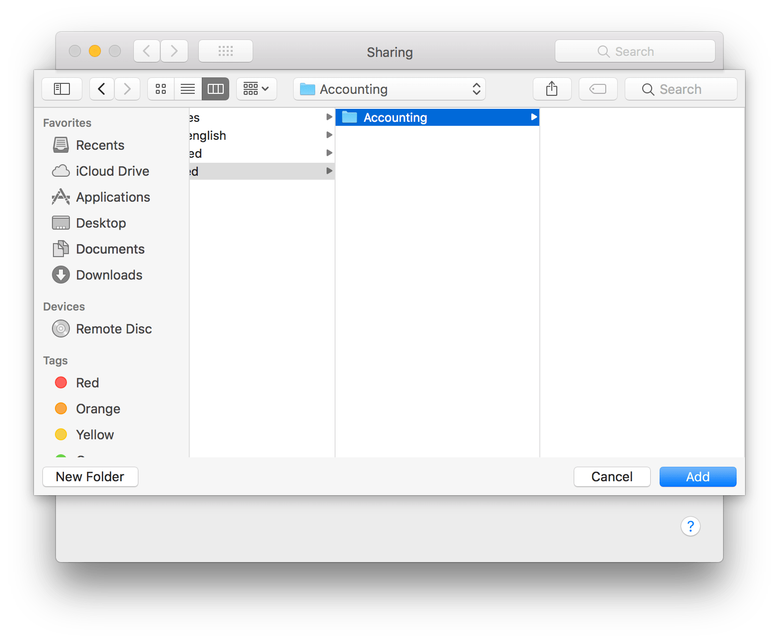 Setup the File Sharing Service in macOS 10 13, High Sierra