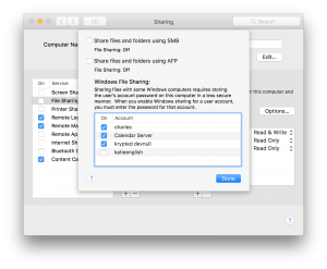 Setup the File Sharing Service in macOS 10 13, High Sierra - krypted